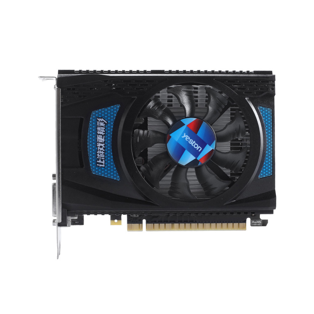 Yeston RX 550 RX550 4G D5 Graphics Cards Radeon Chill <font><b>4GB</b></font> Memory GDDR5 128Bit 6000MHz DP1.4HDR+HDMI2.0b+DVI-D Small Size <font><b>GPU</b></font> image