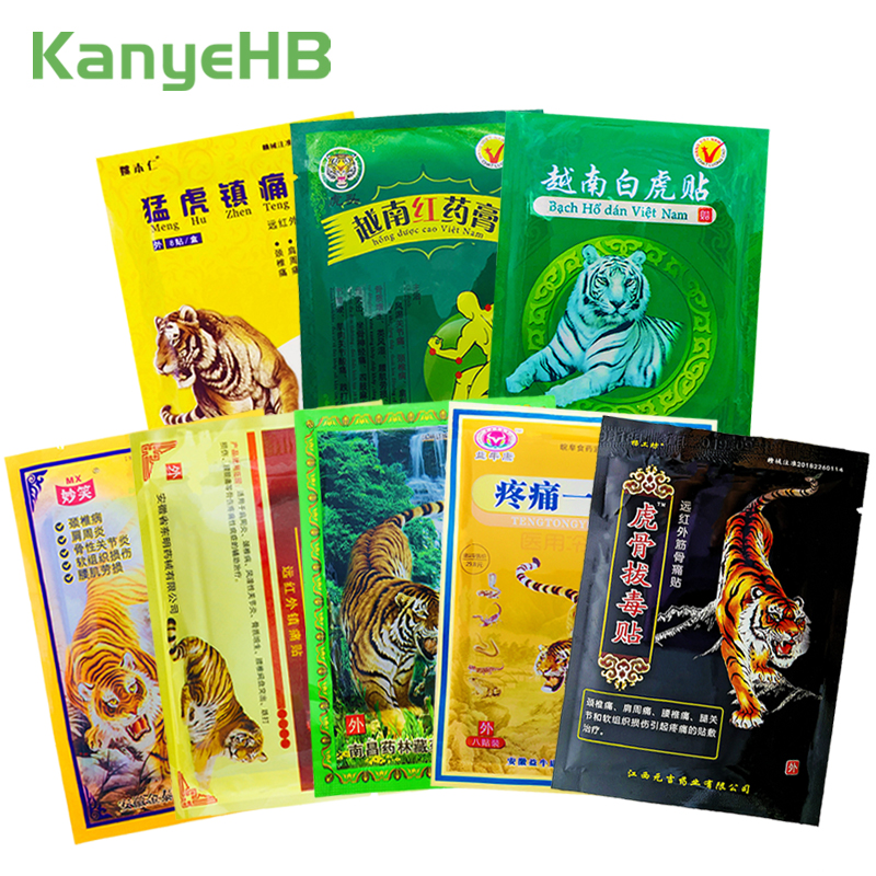 8Pcs/bag Of 8 Types Tiger Balm Patches 100% Original Natural Chinese Medical Plaster Back Neck Muscle Arthritis Pain Relief