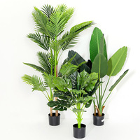 Topfpflanze simulation baum gefälschte baum wohnzimmer große blume bonsai boden decor reisenden banana dschungel party faux pflanzen