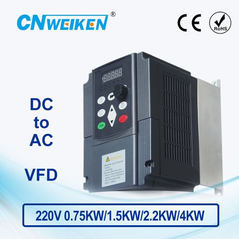 WK310 Vector Control frequency converter DC 200V-400V to Three-phase 220V solar pump inverter with MPPT control