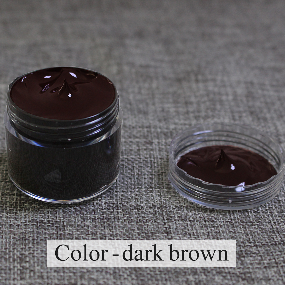 Dark Brown Leather Paint Leather Care Restoration Complementary Color Change Paint For Clothes Shoe Cream Acrylic Paint 30ml