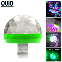 Colorful LED Decorate Lamp Car USB Atmosphere Light Music Sound DJ RGB Mini for Festival Party USB-C Phone Emergency