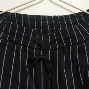 Image 4 - Mens Striped Trousers Pants Black White Summer Thin Ankle length Casual Pants Male Breathable Fashion Slim Fit Harem Pants Men
