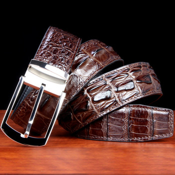 New Really Crocodile Belt men Hook Buckle Genuine Leather Waist Luxurious Youth Business Affairs luxury brand free shipping