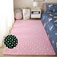 Thick Carpet Living Luminous Plush Rug Dinosaur  moon Children Bed Room Fluffy Floor Carpets Bedside Home Decor Rugs Velvet Mat