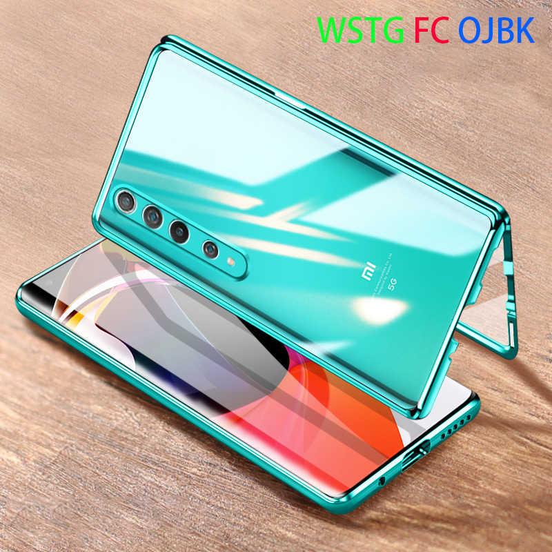 Năm 360 Kim Loại Từ Ốp Lưng Cho Xiaomi Redmi Note 9S 8 7 K20 Pro 8T 8A Mi9 Mi10 9T Note10 Cc9 Pro A3 Cc9e Bảo Vệ Đầy Đủ Flip Cover