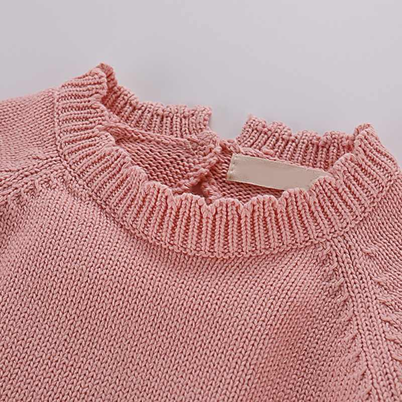 봄 겨울 아기 소녀 스웨터 점프 슈트 키즈 어린이 귀여운 공 디자인 긴 소매 니트 신생아 Romper 복장 복장