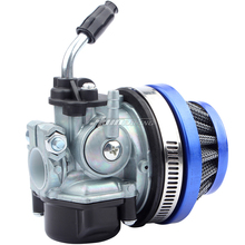 49cc 50cc 80cc 2 тактный Карбюратор с воздушным фильтром для 2-х тактный двигатель моторизованный велосипед мини Moto грязи Карманный ATV синий