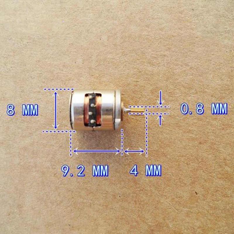 Mini motor deslizante 8mm * 9.5mm mini stepping engrenagem de cobre do motor diy câmera digital dc 8mm 2-phase 4-wire