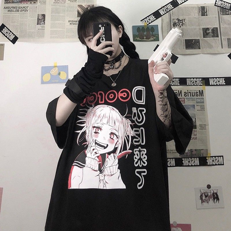 Summer Goth Female Tee Aesthetic Loose Women T shirt Punk Dark Grunge Streetwear Ladies gothic Top T shirts Harajuku Clothes y2k