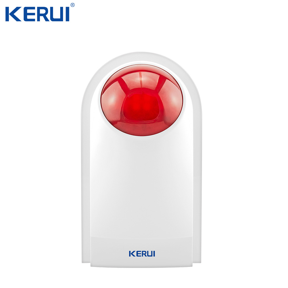 Kerui J008 Flash Siren External Outdoor Waterproof Siren Sound Strobe Flash Alarm Siren Wifi GSM Home Security Alarm System