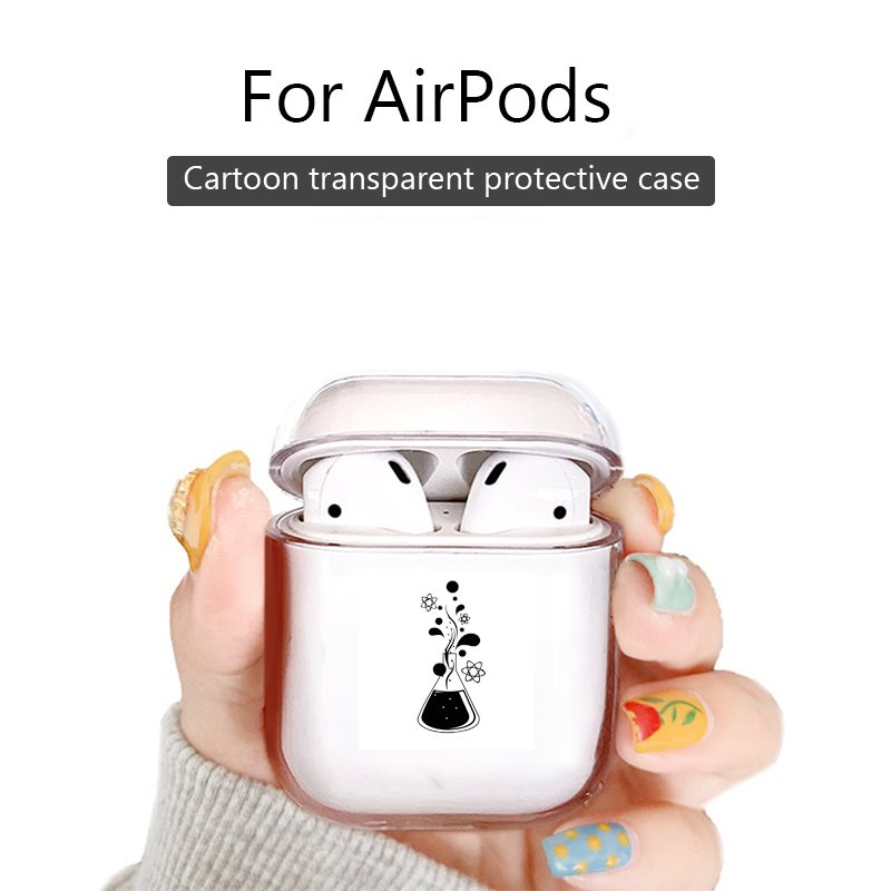 Wireless Bluetooth Earphone Cute Case For Apple AirPods 1/2 Pro Charging Case Cover Chemistry Science Atom Molecules Vinly