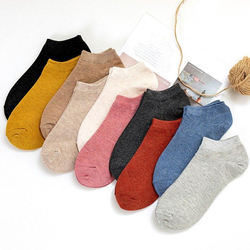 Women Short Socks Casual Summer Autumn Soft Cotton Female Socks Girls  Invisible Boat Socks