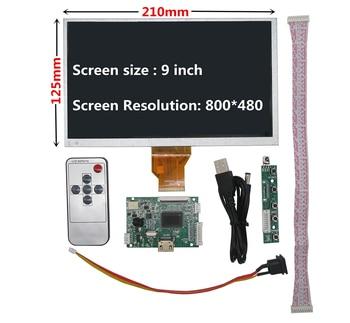9 inch for Raspberry Pi Banana/Orange Pi mini computer LCD Screen Display Monitor with Remote HDMI Driver Control Board mv59bad universal usb sd media player board for 15 6 inch 1366x768 b156xw01 ccfl lvds monitor for raspberry pi