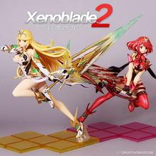 Xenoblade Chronicles 2 Mythra Hikari / Pyra Homura, figura de PVC, juguete de modelos coleccionables
