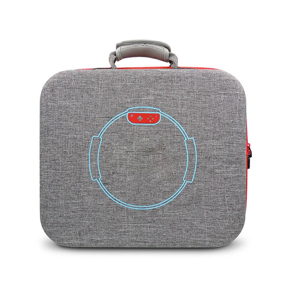 Sac de rangement dur portatif d'eva pour le sac de étui de protection de transport de voyage de câble de chargeur de contrôleur de jeu d'anneau de forme physique de commutateur de nintention - 3