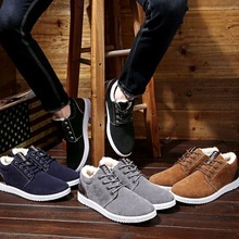 Promotion England Winter 2019 New Men Boots Ankle Snow Boots Fashion Sneakers Oxfords Plush Warm Casual Outdoor Shoes Non-slip men casual trend for fashion slip on suede snow warm winter ankle boots shoes