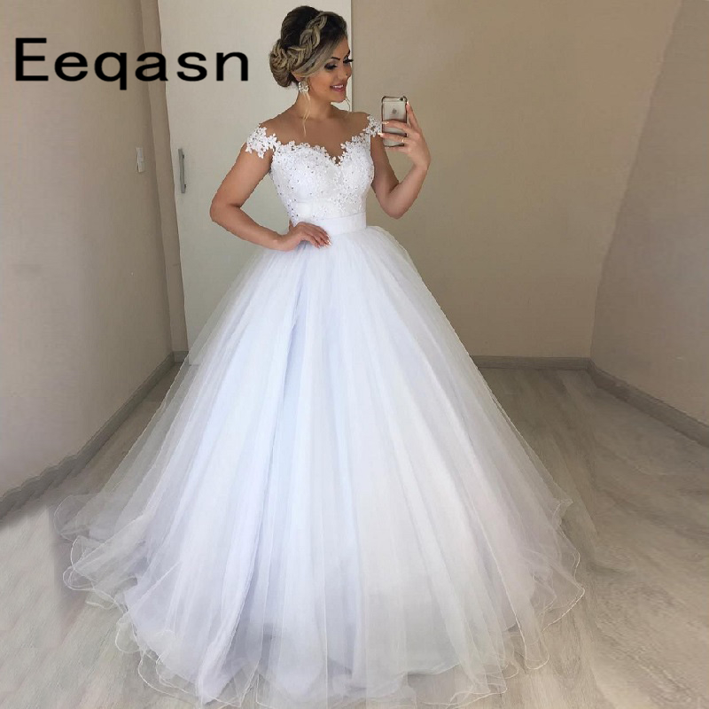 Unique 2 In 1 Wedding Dresses Detachable Skirt Ball Gown Tulle Bridal Dress Two Pieces Lace Vestidos De Novia Custom Made