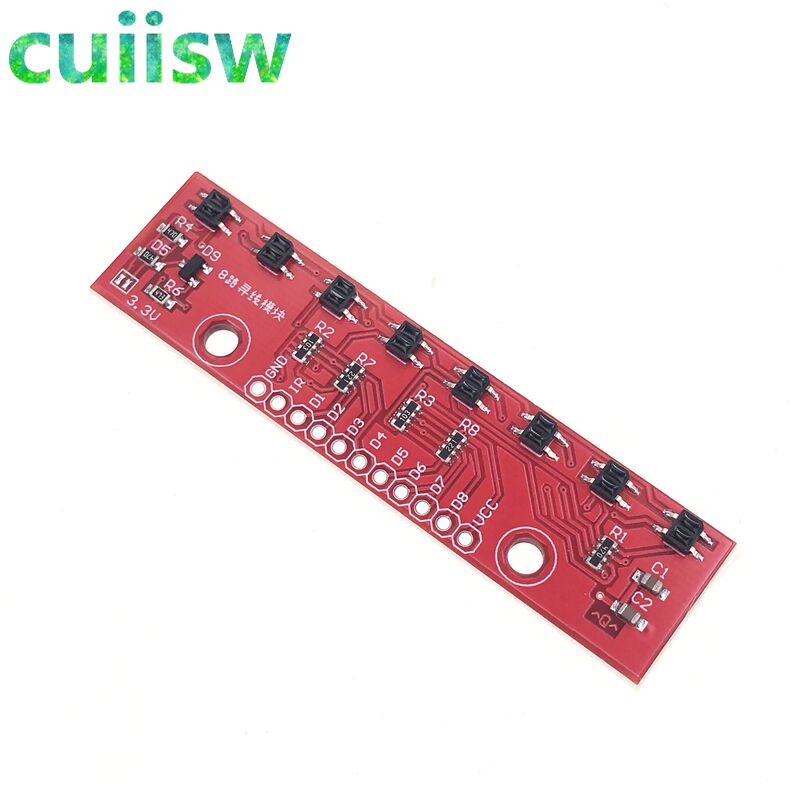 Canal CH Infravermelho IR Módulo Sensor De Rastreamento 8 8 Linha Track Trace Detectar Placa DIY Detector De Detecção para Arduino Inteligente carro