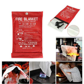 Z40 Dropshipping 1M x 1M Sealed Fire Blanket Home Safety Fighting Fire Extinguishers Tent Boat Emergency Survival Safety Cover 1