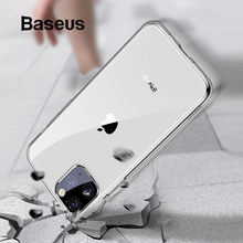 Baseus Hoge Transparante Siliconen Case Voor iPhone 11 Pro Case Ultra Dunne Zachte TPU Cover Case Voor iPhone 11 Pro max Case Cover(China)