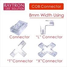 Светодиодная лента 8 мм с COB-матрицей, специальное использование ленты для полоски, угол сварки 90 °, без откидного чипа, одноцветная гибкая ле...