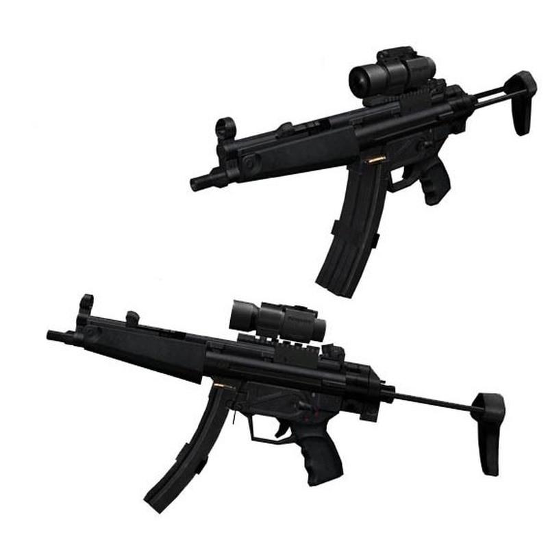 Weapon MP5 Submachine Gun 3D Paper Model 1:1 Firearms Handmade Kid DIY Toy