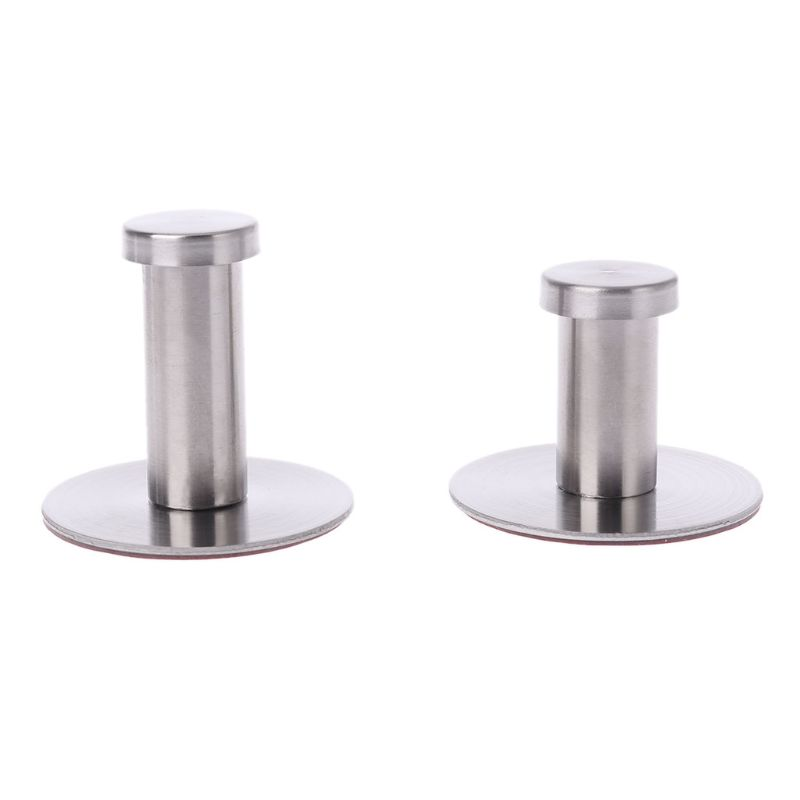Stainless Steel Round Without Drilling Self Adhesive Wall Mounted Towel Clothes Hook Sticker Robe Coat Hanger Bathroom
