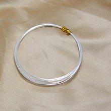 06 1 мм Настоящее чистое твердое серебро 999 пробы проволочная