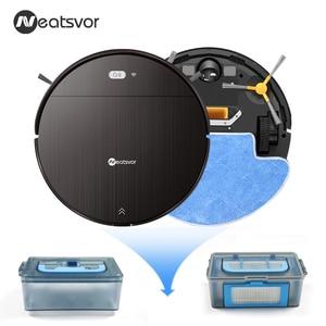 Image 4 - NEATSVOR V392 براون جهاز آلي لتنظيف الأتربة الاجتياح و ممسحة رطبة للأرضية APP التحكم خريطة الملاحة المخطط السيارات تهمة روبوت 1800PA