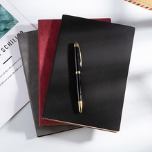 Estilo retro notebook couro macio engrossado a5 bloco de notas criativo papelaria 746d
