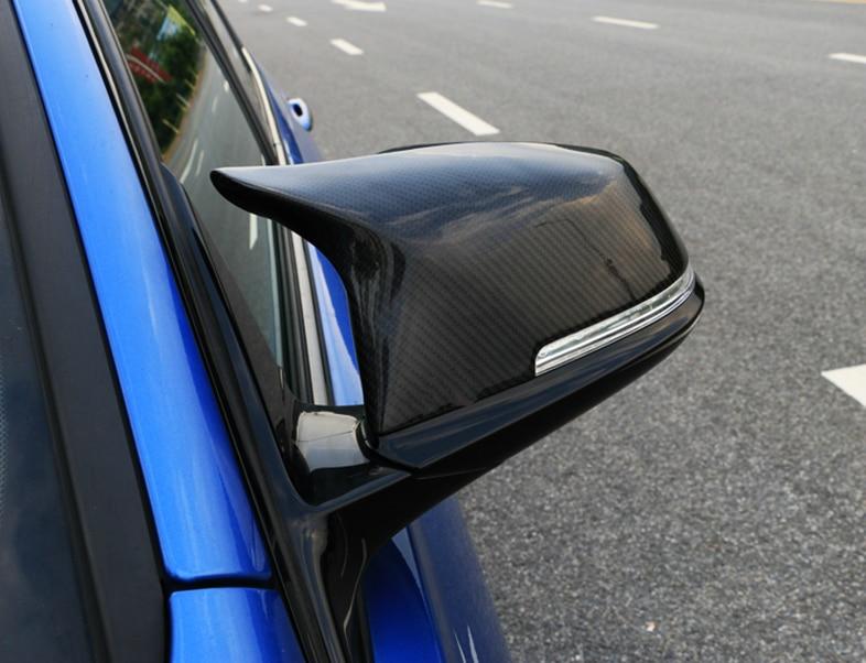 2 pièces Auto Voiture Vue Arrière Rétroviseur Couverture Pour BMW F20 F21 F22 F23 F30 F31 F32 F36 X1 E84 F87 M2 effet Fiber De Carbone