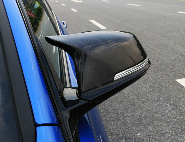 Side-Mirror-Cover Trim Carbon-Fiber-Style F30 Car-Rear-View F32 Auto F31 F23 Bmw F20 title=