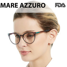 Mare azzuro óculos de leitura mulher gato olhos presbiopia vidro gradiente transparente óculos quadro 0 + 1 1.5 2.0 4.0 a SR8100-JW