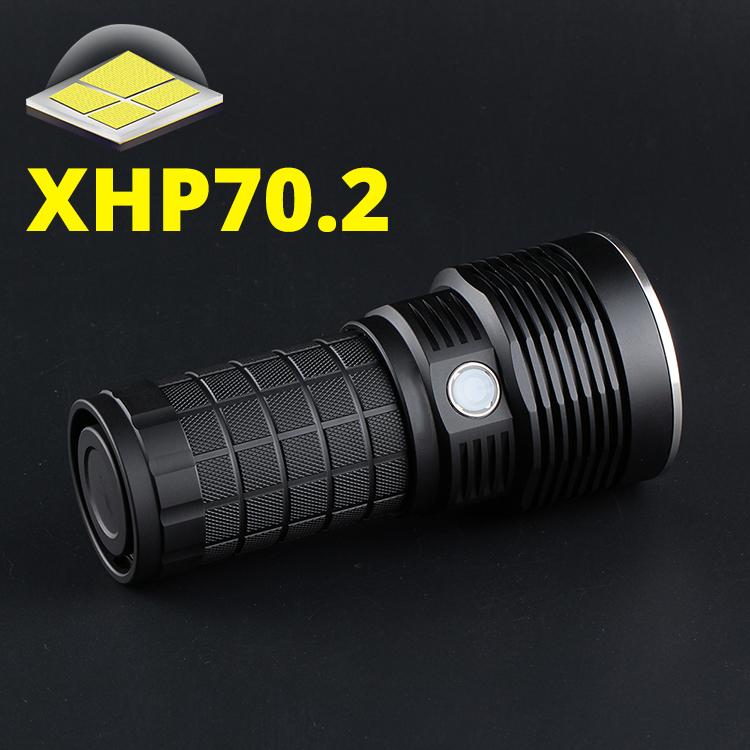 2020 Convoy 4X18A Flashlight, CREE XHP70.2, 4300lm, With Temperature Control And Type-c Charging Interface