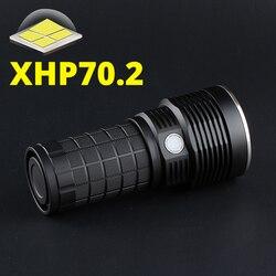 Linterna CREE XHP70.2 de 4X18A 2020 con control de temperatura e interfaz de carga tipo c