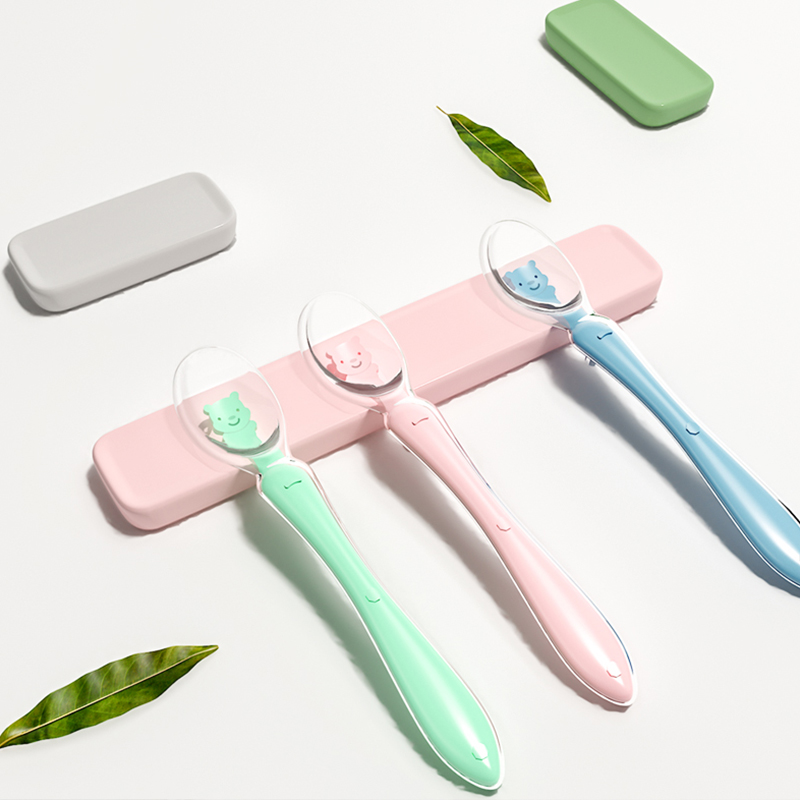 Silicone Baby Soft Soup Spoon Hcalthy Infant Scnsing Tcmpcrature Sucker Kichen Cooking Spoon Ricc Spoon Childrc Tablcwarc