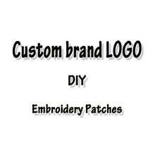 Embroidered Patches 3D Custom Brand LOGO For Clothing Iron On Patches On Clothes DIY Badge Patch Sewing On Garment Apparel Decor custom embroidered patches customized logo factory direct embroidered iron on sew on patch welcome to custom your own patch