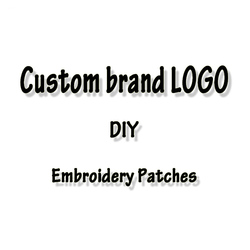 Embroidered Patches 3D Custom Brand LOGO For Clothing Iron On Patches On Clothes DIY Badge Patch Sewing On Garment Apparel Decor