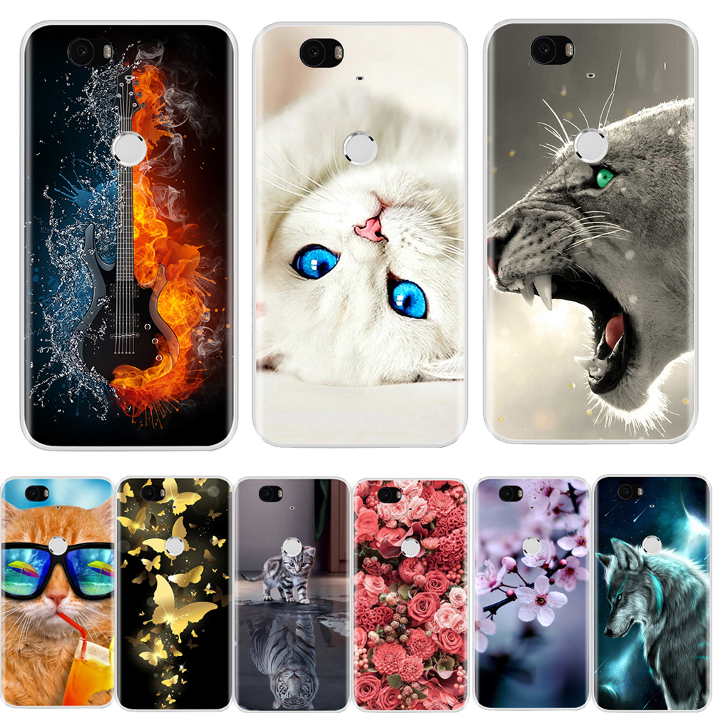 Case For Nexus 6P Soft Silicone TPU Fashion Pattern Painted Back Cover For Google Huawei Nexus 6P Case image