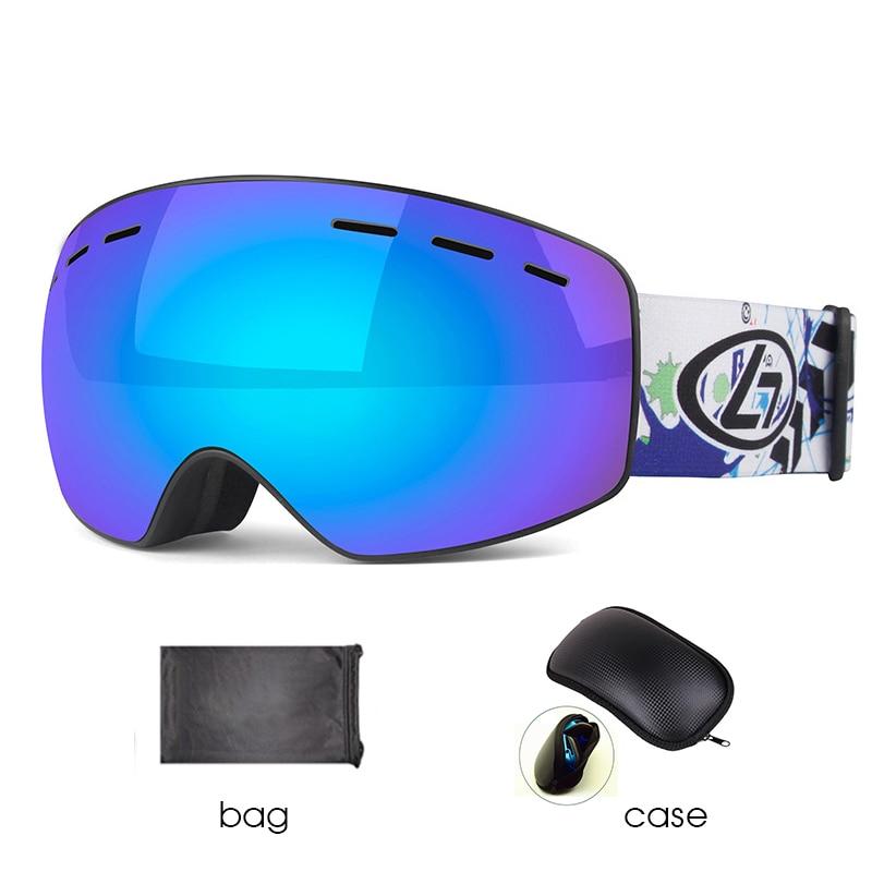 Kid Boy Child UV Protection Anti-fog Lens Spherical Skiing Glasses Snow Goggles
