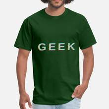 Vintage Geek Glitch Effect heren T-Shirt 2020 Ronde Hals Grappige Casual T-shirt Man Oversize S-5xl Vrouwelijke Top Tee(China)