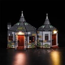 Luz led compatível para 75947 modelo de filme hagriding hut buckbeak resgate construção tijolos criador cidade blocos técnicos diy brinquedos