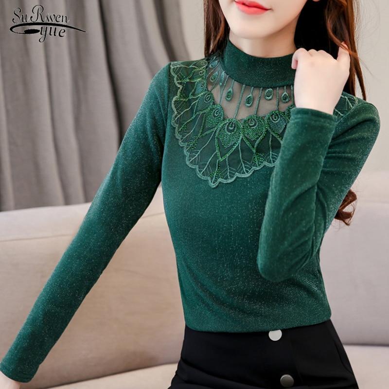 Women Plus Size Turtleneck Long Sleeve Cotton Casual Blouse T Shirt Jumper Pullover Tops