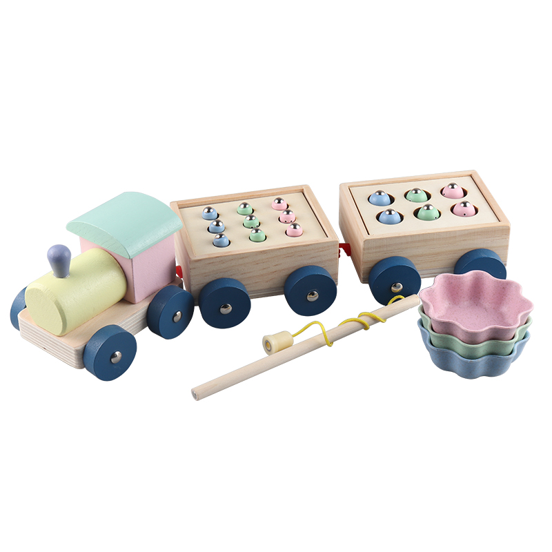 Kids Toys Interactive Wooden Toys Magnetic Games Fishing Toys Catch Worm Baby Early Educational Toys For Children Girl Gifts