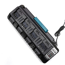 цена на 4 socket BS1418-04 Li-Ion Battery Charger 3A Max for BOSCH 14.4V 18V BAT609 BAT609G BAT618 BAT618G with Dual USB port