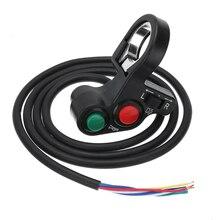 1PC Motorcycle 3in1 Horn Turn Signal Light Switch Speaker Start Dimmer For 7/8 Handlebar Off-road Bike
