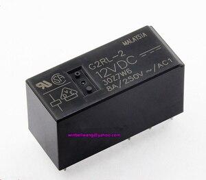 Image 1 - 10 قطعة! العلامة التجارية الجديدة والأصلية 12 فولت 24 فولت PCB تتابع التتابع G2RL 2 12VDC G2RL 2 24VDC DPDT 8 دبابيس 8A