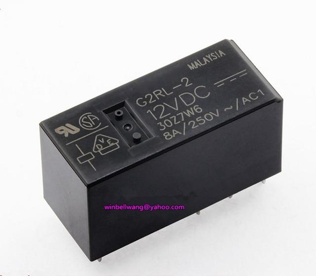 10 pcs!ยี่ห้อใหม่และต้นฉบับ 12V 24V รีเลย์รีเลย์ G2RL 2 12VDC G2RL 2 24VDC DPDT 8pins 8A