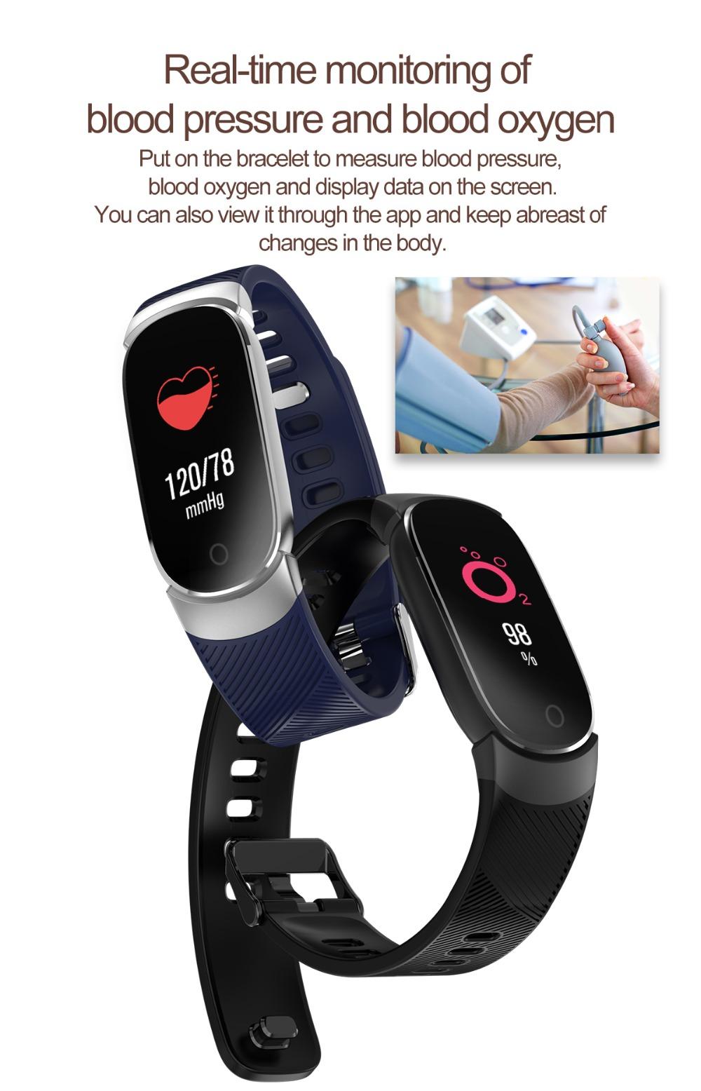 QW16 Smart Band Heart Rate Tracker Fitness Tracker Smartband Smart Bracelet Waterproof Smart Wristband Smart Watch pk mi band 3 (4)